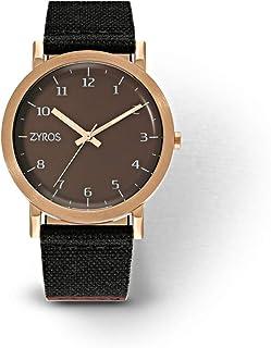 زايروس ساعة يد للرجال، انالوج بعقارب، قماش - ZAL015M101207