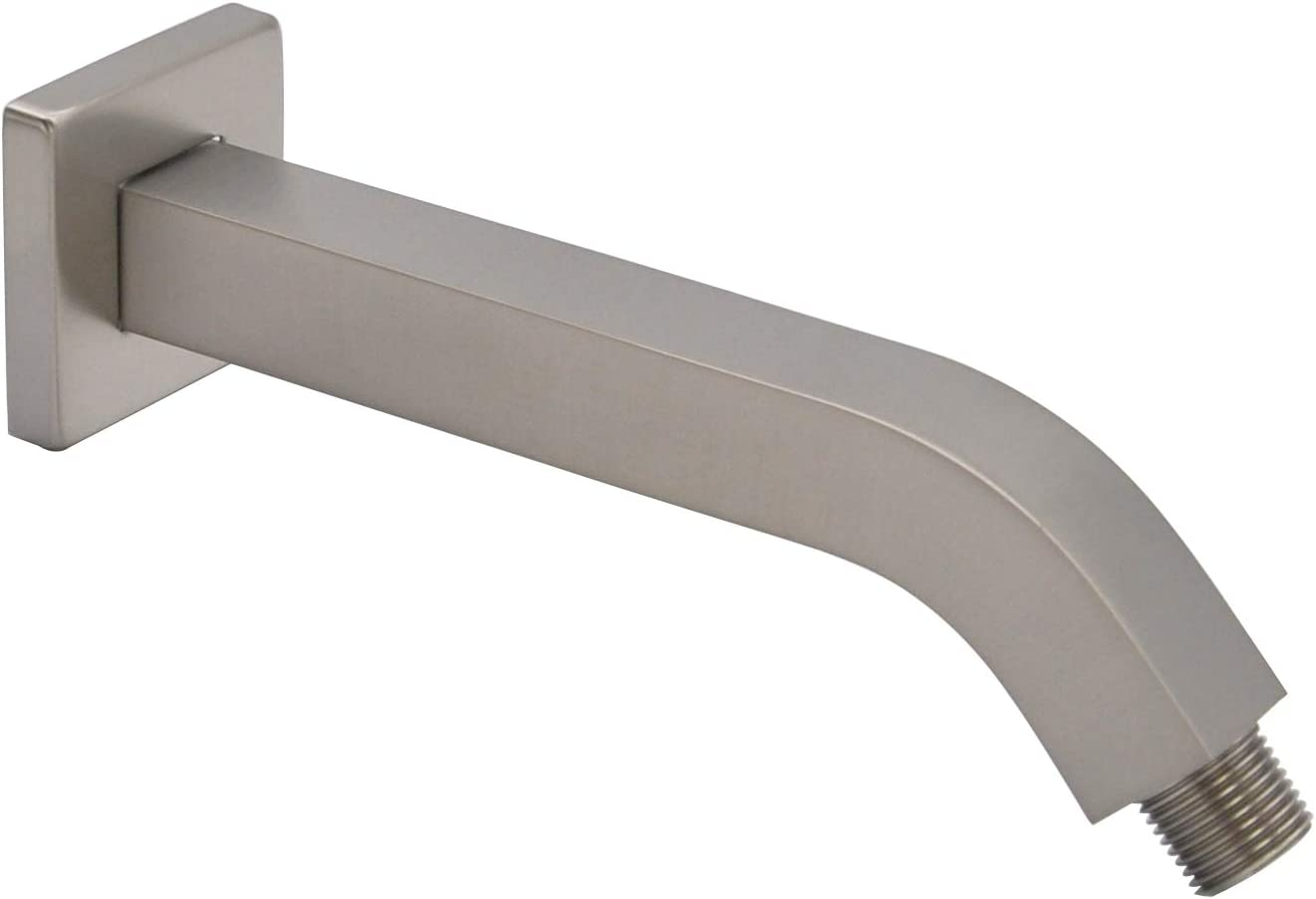Aquaiaw Shower Arm and Flange 8 Square Max 86% OFF inch Solid Brass Both Popular products