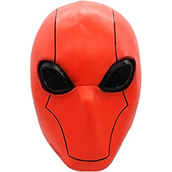 Injustice 2 Batman Latex Red Black Halloween Cosplay Adult Mask Party Props Gift
