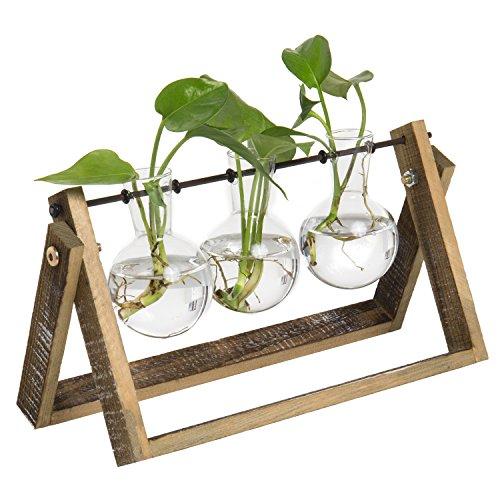 Bulb vase in swivel stand