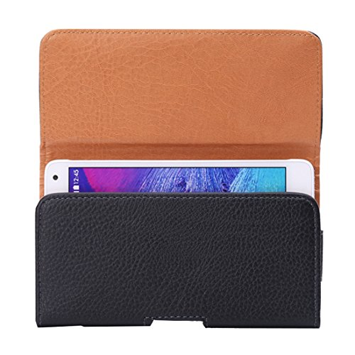 BANAZ Caja Del Teléfono Del Caso For El IPhone Y Galaxy X S7 / G930 Y S6 Edge / G925 Y S6 / G920 Y S5 / G900 & Grand DUOS I9082 Litchi Textura Vertical Del Cuero Del Tirón Bolsa De Cintura Con La Part