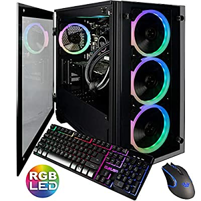 CUK Stratos Micro Gamer PC (Liquid Cooled 5GHz 8 Core Intel Core i9-9900K, 64GB RAM, 2TB NVMe SSD + 2TB, NVIDIA GeForce RTX 2080 Ti, 750W Gold PSU, Windows 10) Best Tower Desktop Computer for Gaming