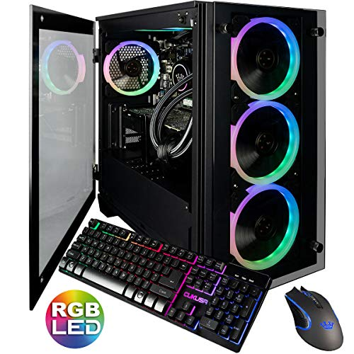 CUK Stratos Micro Gaming PC (Liquid Cooled Intel Core i9-9900KF, NVIDIA GeForce RTX 2080 Ti, 32GB RAM, 1TB NVMe SSD + 2TB, 750W Gold PSU, Z390 Motherboard) Best Tower Desktop Computer for Gamers