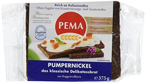 PEMA  Pumpernickel 8x375g, das klassische Delikatessbrot nur aus Roggen-Vollkorn, ohne Süßungs- und Färbemittel., 1er Pack (1 x 3000 g)