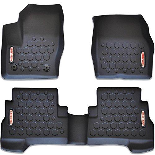 Aiqiying Cargo Liners,Black Heavy Duty/Rubber Waterproof Rear Cargo Tray Trunk Floor Mat Protector Custom Fit/for 2018 2019 Wrangler JL 4-Door