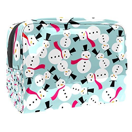 Bolsa de maquillaje de PVC para mujer y niña cosmética neceser organizador bolsa 7.3 x 3 x 5.1 pulgadas perezoso y flores