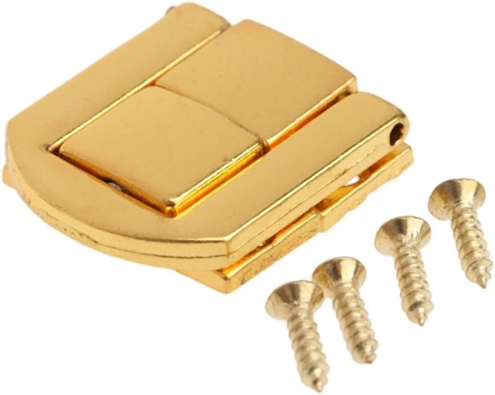 JUN-STORE CMM-Y Beauty products 5Pcs Wooden Box Hasps f Catch Latches Ranking TOP8 Lock Metal