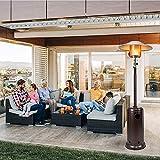FASSTUREF Calentador de propano Alto y Redondo para Patio, Estufa de Calentador de Gas Comercial para Exteriores, para Uso Comercial, residencial y de jardín
