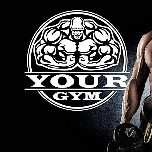 zzlfn3lv Gym Sticker Fitness Name Decal Body-Building Posters Vinyl Wall Decals Pegatina Quadro Parede Decor Mural Gym Sticker40*42cm