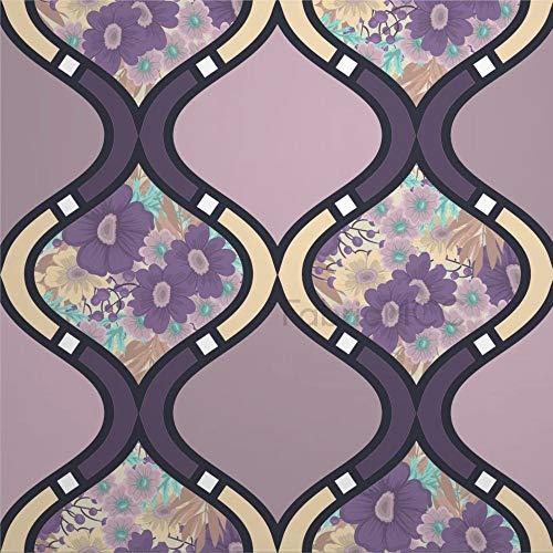 Daoyiqi - Juego de adhesivos decorativos para azulejos de pared, diseño de flores, hojas de 10 x 10 cm, 12 unidades, PVC/vinilo., Estilo7, 8 x 8 pulgadas