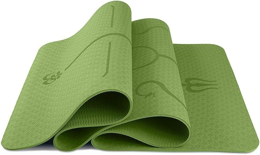 Nlj-YMS Tapis De Yoga Professionnel en Caoutchouc Tapis De Voyage Tapis De Pratique en Plein Air 183cmX61cmX0.6cm