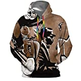 Jazz with Singer,Mens Womens Hoodies Athletic Pullover Hooded Sweatshirt with kets Saxophone and Piano XL