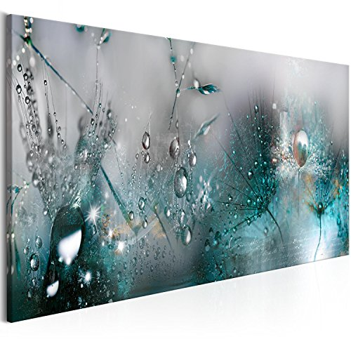 murando - Bilder Pusteblume 150x50 cm Vlies Leinwandbild 1 TLG Kunstdruck modern Wandbilder XXL Wanddekoration Design Wand Bild - Blumen Natur grau blau Pusteblumen b-C-0169-b-d