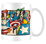 Marvel MG23437 Retro (Captain America Panels) Mug, Céramique, Multicolore, 11oz/315ml