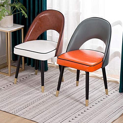 Chaise à métal, Velours Chaises tapissées Loisirs Chaises avec Pieds en métal Robuste pour la Cuisine, Salle à Manger, Chambre à Coucher, Salle de séjour,Marron Brown