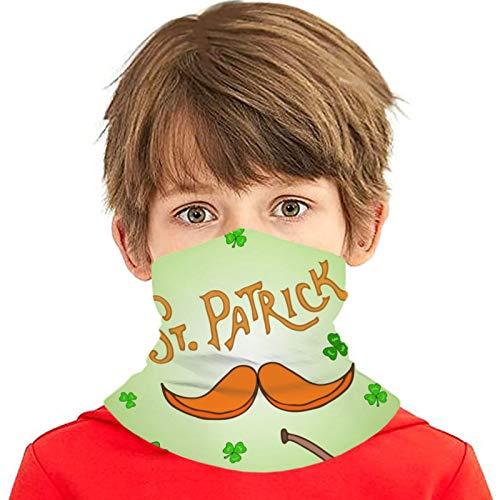 ZVEZVI St Patrick S Day Tarjeta de felicitación navideña Versátil Multifunción Headwear Cuello polaina Pasamontañas Forro del casco Cubierta facial para montar para niños al aire libre Protección UV
