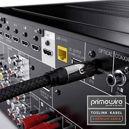 CSL - TOSLINK Kabel Digitalkabel - 0,5m - LWL Optisches Kabel - Digital Audiokabel Toslink auf Toslink - HiFi-System Home Entertainment Heimkino Soundbar CD DVD Blue-RAY-Player Xbox