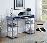 Convenience Concepts Designs2Go No Tools Student Desk, Blue