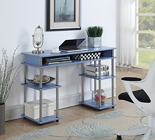 Convenience Concepts Designs2Go No Tools Student Desk Blue
