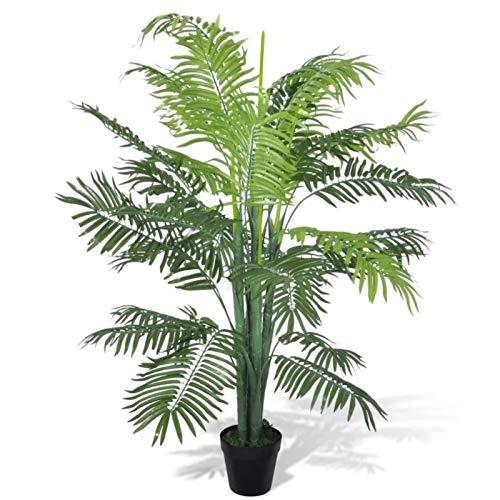 Planta Artificial Palmera, Palmera Fénix Artificial con Maceta Ideal para Decoración de Hogar y Oficina, 130 cm