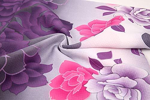 CDDKJDS Kimono De Algodón Tradicional con OBI Japón Flor De Albornoces Mujeres Yukata Ropa De Baño Bata (Color : Only Kimono, Size : One Size)