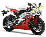 Carenados de moda para Yamaha YZF600 R6 YZF-R6 06 07 Rojo Blanco YZFR6 2006 2007 Kit de carenado de motocicleta (moldeo por inyección)