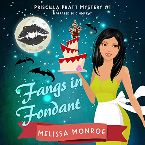 Fangs in Fondant     Priscilla Pratt Mystery, Book 1              By:                                                                                                                                 Melissa Monroe                               Narrated by:                                                                                                                                 Cindy Kay                      Length: 6 hrs and 8 mins     29 ratings     Overall 4.3