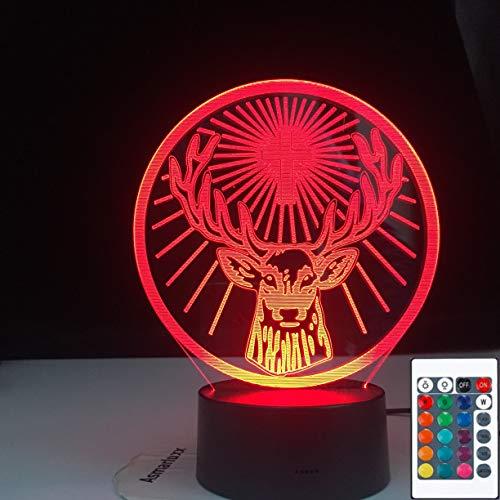 LED Jagermeister USB Bar 3D LED Night Light Table Lamp Bedside Decoration Kids Gift