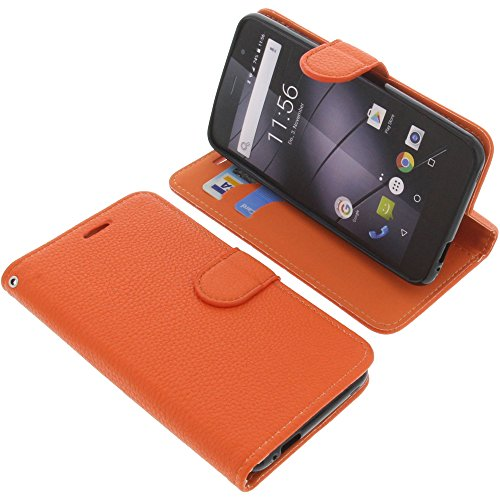 foto-kontor Tasche für Gigaset GS170 GS160 / GS170 Book Style orange Schutz Hülle Buch