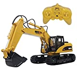 Hugine 15 Channel RC Excavator 2.4G Crawler Full-Function Remote Control Construction Tractor Digger