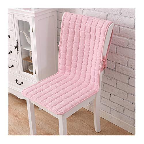 Cuscini per sedia a dondolo in cotone lavato, con schienale antiscivolo, con lacci e borsa portaoggetti, cuscino per sedia da ufficio, sedia da salotto, sedia in vimini 40X130cm rosa