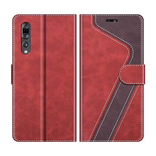 MOBESV Custodia Huawei P20 PRO, Cover a Libro Huawei P20 PRO, Custodia in Pelle Huawei P20 PRO Magnetica Cover per Huawei P20 PRO, Elegante Rosso