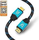Ultra HDTV Premium – 2m 4K Cable HDMI 2.0b | 4K/60Hz (sin interferencias), HDR, 3D, ARC, Ethernet