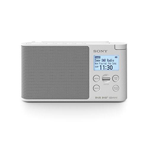 Sony XDRS41DW.EU8 - Radio portátil Digital (Dab/Dab+/FM, Altavoz, 5 presintonías Digitales y 5 analógicas, Pantalla LCD, Temporizador, Adaptador CA) Blanco