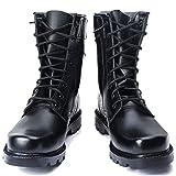 Wygwlg Botas de Combate para Hombre Botas Militares tácticas del Desierto Zapatos de Entrenamiento de Trekking Zapatos de Seguridad duraderos High Top Black,Black2-41