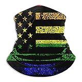 Bandera Americana Bandera Gay Calentador de Cuello Polaina Bufanda Cuello Tocado Clima frío Bufanda a Prueba de Viento Turbante