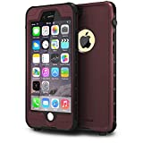 ImpactStrong iPhone 6 Waterproof Case [Fingerprint ID Compatible] Slim Full Body Protection Cover for Apple iPhone 6 / 6s (4.7') - Coffee