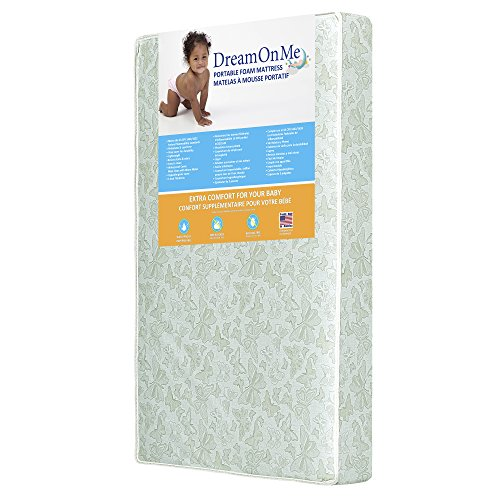 "Dream On Me 3"" Two Sided Mini Portable Crib Foam Mattress"