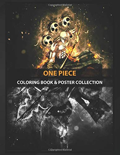 Coloring Book & Poster Collection: One Piece Enel Anime & Manga