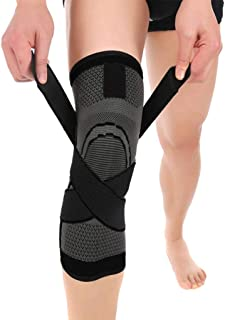 Benficial Unisex Compression Knee Sleeve Support Running Basketball Lift Knee Pads