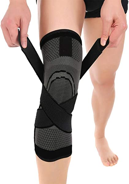 CnnIUHA Compression Sports Knee Pad Knee Strap For Protector Leg Sleeve Unisex Breathable Knee Support Antislip For Basketball Running Jumper Tennis Hiking Climbing Kneepad