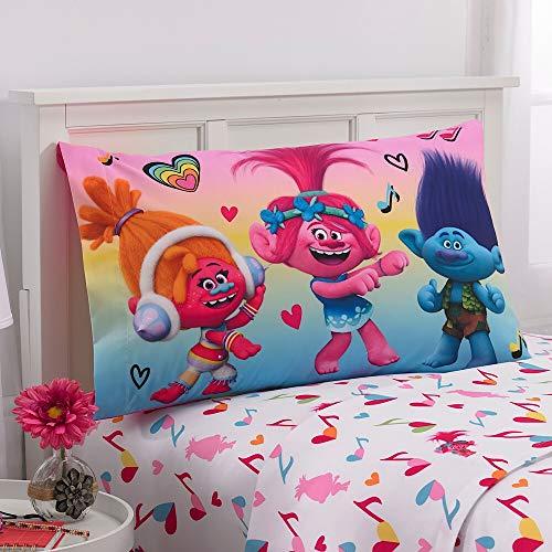 DreamWorks Trolls Microfiber Twin Sheet Set with Pillowcase