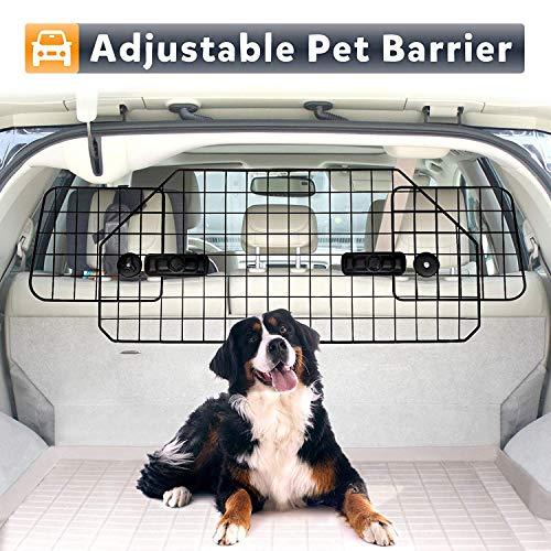 ZenStyle Dog Car Barrier Pet Fence for SUVS, Van, Cargo, Vehicles - Adjustable Pets Car Divider Wire Dog Gate Heavy Duty Dog Divider for SUV