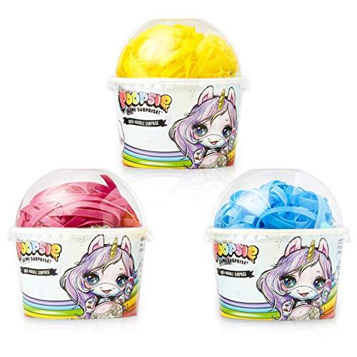 Poopsie Slime Surprise Unicorn Bombas de Baño para Niños, Set 3 Cajas Fideos de Baño Agua Color Burbujas, Baño Divertido Regalos Originales para Niñas Pupsy