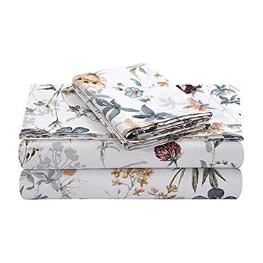 TRIBECA LIVING AMAL4PSSKIRE Extra Deep Pocket Sheet Set, King, Amalfi Red/Multi