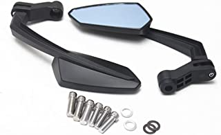 Red Motorcycle Handle Bar End Mini Mirrors (Black)