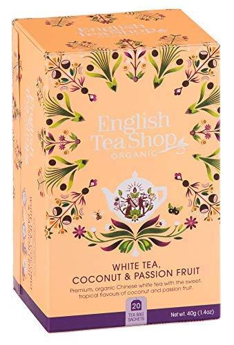 DEU English Tea Shop Bio-Weißtee mit Kokosnuss- und Passionsfrucht - 1 x 20 Teebeutel (40 Gramm)