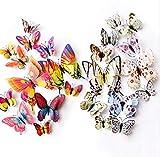 kdjshhs Etiqueta De La Pared Nuevo 3D Doble Capa Mariposa Etiqueta De La Pared para La Decoración del Hogar Etiqueta Engomada Decorativa Tatuajes De Pared Mariposas para La Fiesta Imán De Nevera