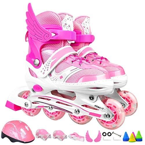 Skate Jongens Meisjes Kinderen Schaatsen Verstelbare Maat Volledige Set Rolschaatsen 4 Wiel Skate Schoenen Schaats