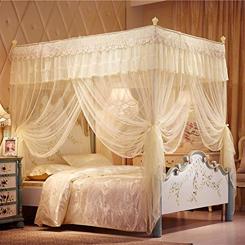 Why Choose TYX-SS European Romance Mosquito Bedding Net 3 Door Stainless Steel Bracket Bed Decoratio...